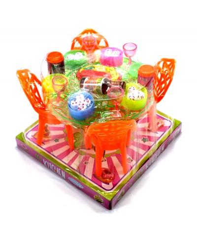 Мебель 66-71 столовая, 3 цвета, в слюде 14*14*11 см