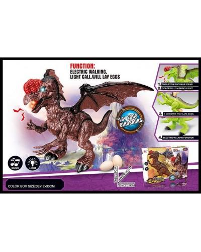 Интерактивное животное 865A динозавр, 2 цвета, батар., свет, звук, в коробке 38*12*30см