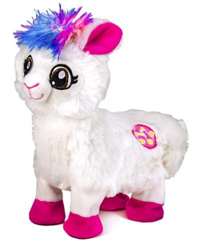 Мягкая игрушка M0669 танцующая лама, размер игрушки - 22*10*26см, в пакете 25*28см