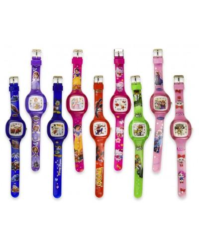 Детские наручные часы 4241, водоотталкивающие, 9 видов, 21см, в пакете 27,5*6см