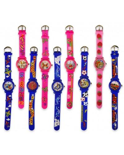 Детские наручные часы 4243, 9 видов, 20 см, в пакете 23,5*4,5см