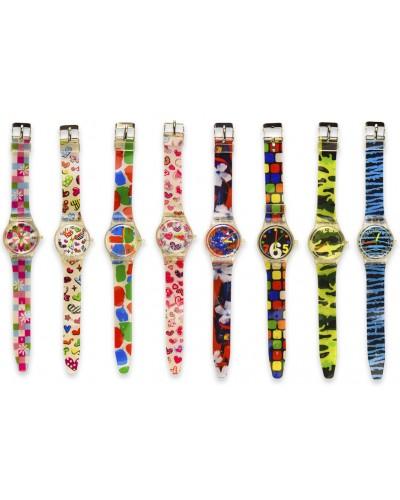 Детские наручные часы 4244, 8 видов, 23см, в пакете 23,5*4,5см