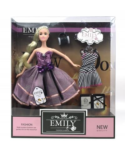 """Кукла  """"Emily""""QJ081A с платьем, с сумочкой, в кор.33*28*6см"""