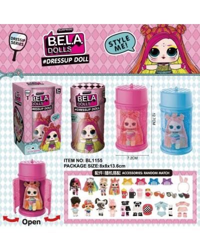 Герои Bela Dolls BL1155 имеют разноцветные волосы, капсула 13,5см в виде лака д/волос