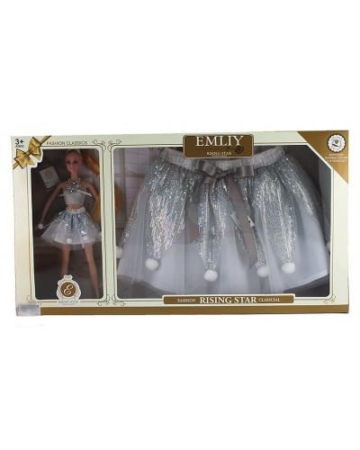 "Кукла ""Emily"" QJ069A в наборе юбка для ребенка, в кор. 60,5*6,5*33,2 см"