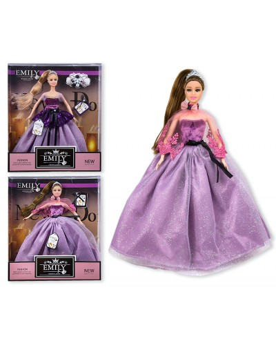 "Кукла ""Emily""  QJ081/QJ081D 2 вида, с аксессуарами, в кор. 33*28*6см"