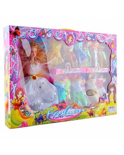 """Кукла типа """"Барби"""" 6869-3B с нарядами, в кор. 48*34*6см"""