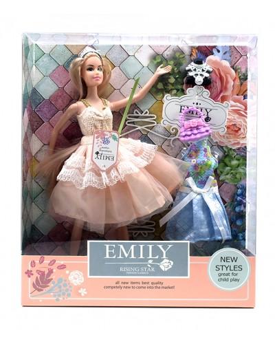 """Кукла """"Emily""""QJ077C с аксессуарами, кукла 29 см, в кор. 28*6*32см"""