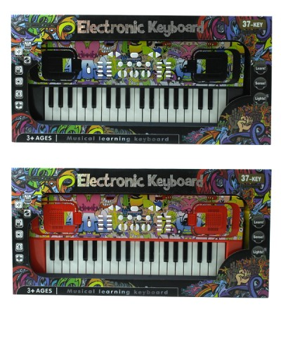 Орган MTK009 3 цвета, от сети, 37 клавиш, с микрофоном, в кор. 60,5*9*20,5см
