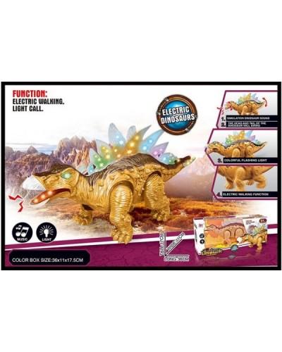 Интерактивное животное 855A динозавр, батар., свет, звук, в коробке 36*11*17,5см