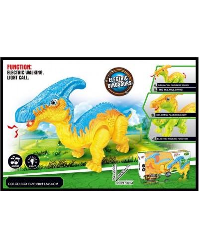 Интерактивное животное 856A динозавр, 2 цвета, батар., свет, звук, в коробке 38*11,5*20см