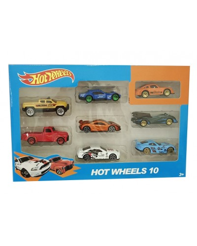 Набор машин металл 324-38  Hot Wheels 8 шт в наборе, в кор 28*19*4см