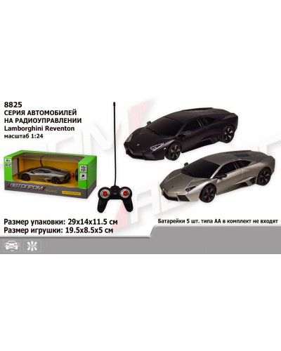 """Машина батар. р/у 8825  """"АВТОПРОМ"""", 1:24 R/C Lamborghini Reventon, 2 цвета, в коробке 29*14*11,5см"""
