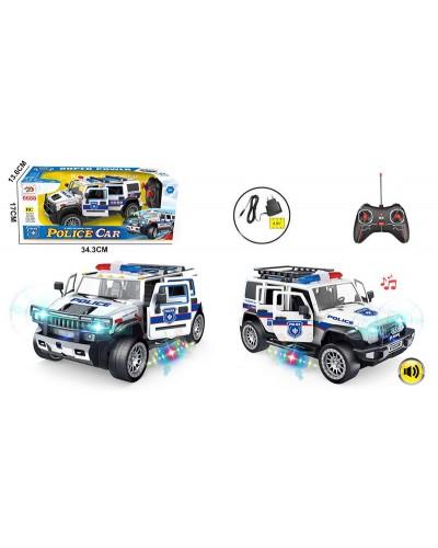 Машина аккум ру 6688-107A Police, свет, звук, в кор. 34,3*17см