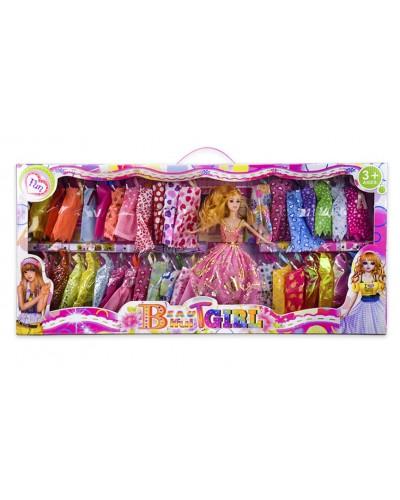 "Кукла типа ""Барби"" CH7720 с набором платьев, р-р куклы- 29 см, в кор.74*7,5*34см"