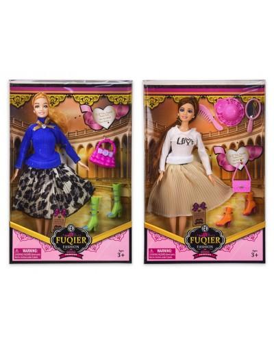 Кукла  JX200-81 2 вида,обувь,аксессуары, р-р куклы - 29 см, в кор.22*6,5*33 см