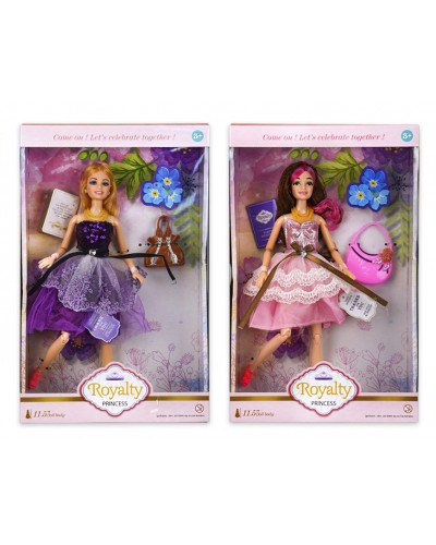 Кукла  JX200-75 2 вида, сумка, шарнир, р-р куклы 29 см, в кор.22*6*35 см