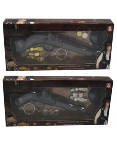 Пиратский набор 666-3/666-5  2 в., оружие, монеты, в кор. 35*4*14см
