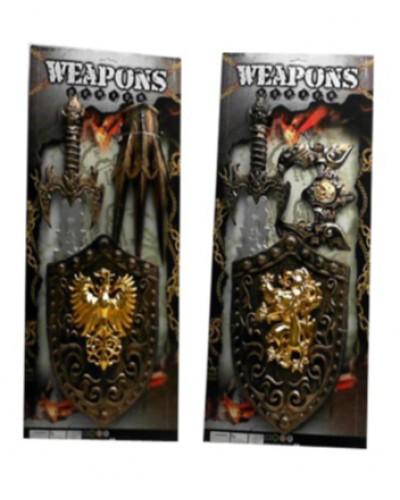 Рыцарский набор 333-16/333-20 2 вида, меч, щит, на планшетке 64*29*5см