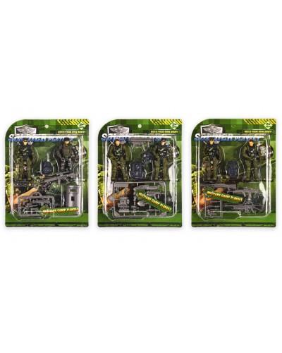 Военный н-р DSL81-15  3 вида, р-р игрушки - 9,5см, на планш. 19*24,5 см