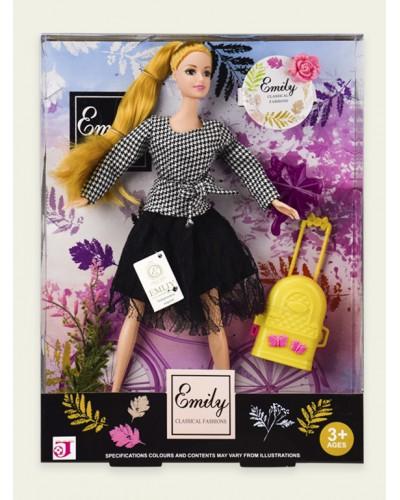 "Кукла ""Emily"" QJ070B чемодан, аксесс, в кор. 24*6*32 см"