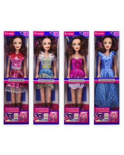 Кукла большая 6721A-1/2/3 (1878071/2/3) 4 вида, р-р игрушки – 43 см, в кор. 12*6*46 см