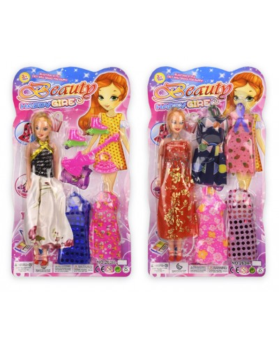 Кукла  263H-24/263H-25 (1885193/94) 2 вида, с платьями и аксессуарами, р-р игрушки – 27 см