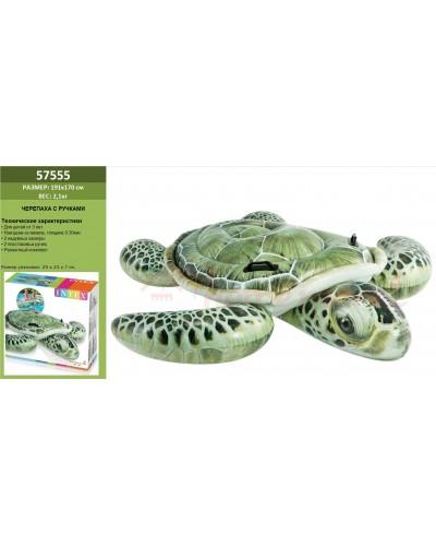"""Надувн. """"Черепаха"""" 57555 винил, с ручками (3+ лет), рем комплект, в кор.191*170см"""