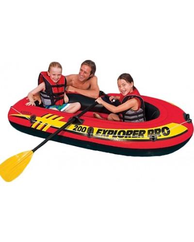 Лодка надув. 58357 Explorer 200 Pro двухместная, 196х102х33см