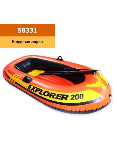 """Лодка 58331 """"EXPLORER 200"""" на 2 чел.,(до 95кг) винил, весла (59623) руч.насос (69613)рем.комплект.,в"""