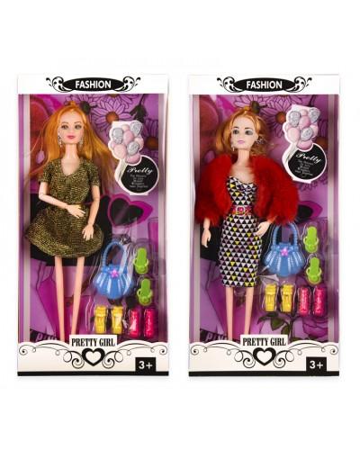 Кукла S1044 2 вида, сумочка, туфли, аксес, р-р игрушки – 29 см, в кор. 16*5*32.5 см