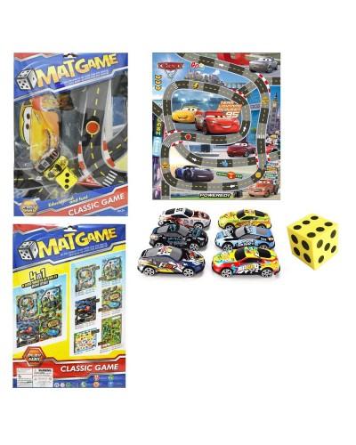 """Игровой коврик RC223 """"Rally"""", машинки, в пакете 40*30см"""