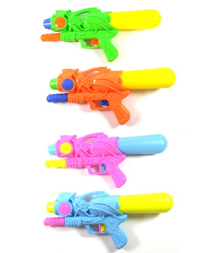 Водный пистолет 103A с насосом, 3 цвета, в пакете 33см