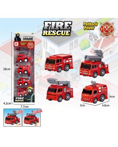 Набор транспорта инерц. Fire rescue BYD168-300 4 машинки в комплекте, в кор. 28*4,2*7,7см