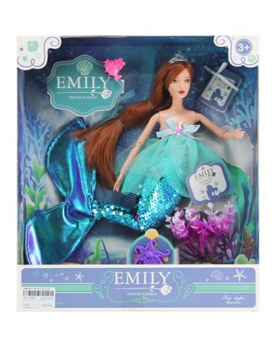 "Кукла ""Emily"" QJ092C русалка с аксессуарами, р-р куклы - 29 см, в кор. 25,8*6,5*32,5см"