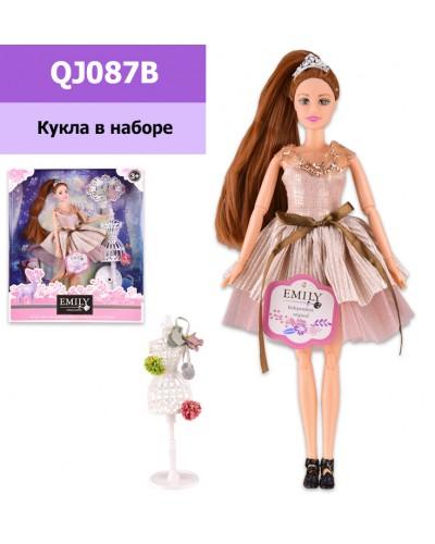 "Кукла  ""Emily"" QJ087B с аксессуарами, шарнирная, р-р куклы - 29 см, в кор. 28.5*6.5*32.5 см"