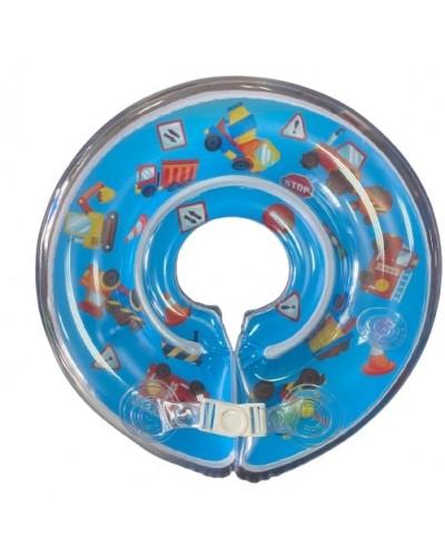 """Круг на шею R2012 """"Машинки"""" для плавания малышей в ванной, р-р упаковки – 20*25 см"""