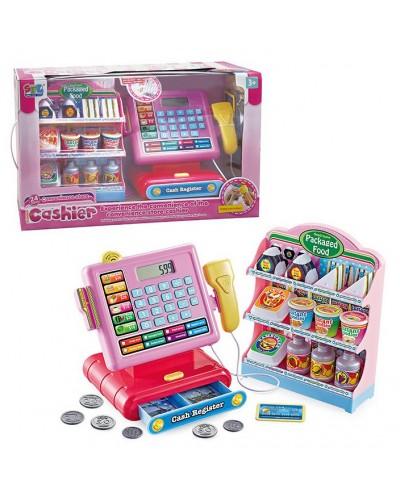 Кассовый аппарат 16829 свет, звук, калькулятор, скане, монетки, полка с продуктами, в кор.43,6*15