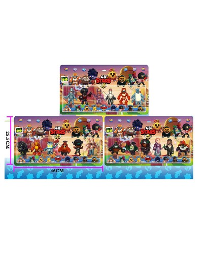 Герои LDY1243 3 вида, 6 героев в наборе, на планшетке 46 * 25,5 см
