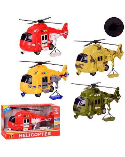 Вертолет батар. RJ3333A/RJ3373 инерц,4 вида,свет,звук, в кор. 32*12*17.5 см, р-р игрушки – 27*8*13см