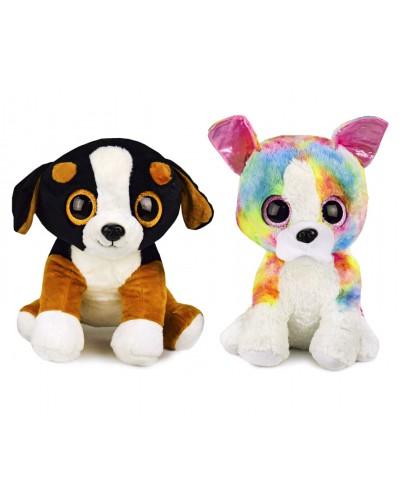 Мягкая игрушка L3097 глазастики собачки, 2 вида, р-р игрушки- 40 см