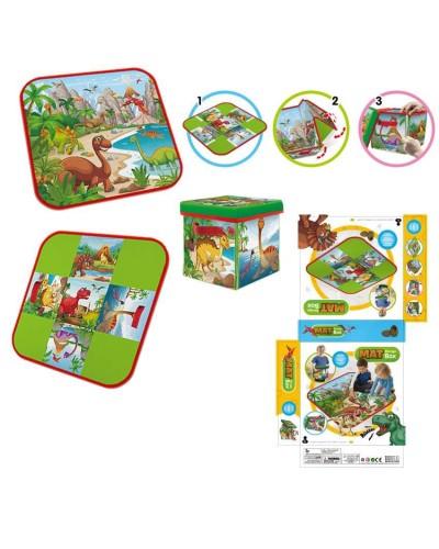 Корзина-сундук для игрушек RC118 3 в1, коврик, стульчик, корзина для игрушек, размер в собра