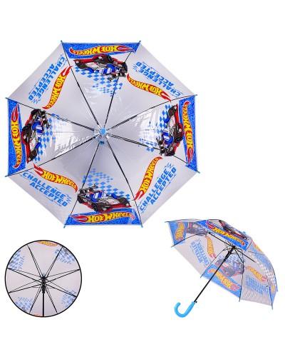 Детский зонт Hot Wheels PL8206 прозрачный, р-р трости – 66 см, диаметр в раскрытом виде – 80 см