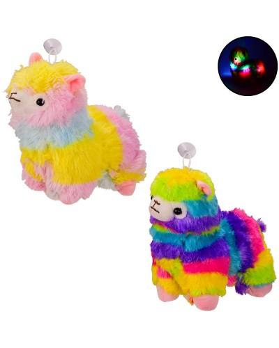 Мягкая игрушка BL0913 альпака со светом 25 см, 2 цвета