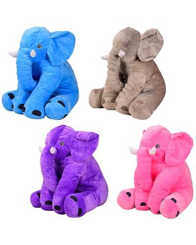 Мягкая игрушка BL0911 слон, 4 цвета, 60см