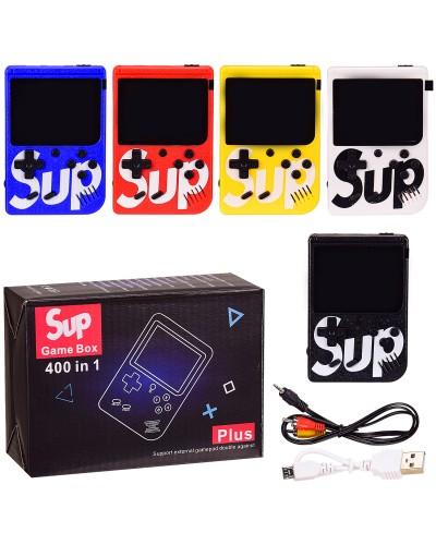 Игровая консоль портативная JP-03 400 игр, зарядное, 5 цветов микс, в короб.20*14см