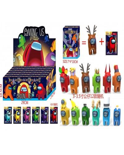 Among Us Амонг Ас DS2434 герои 3-3,5+1 карточки в коробке 7*4*10 см, 12 видов, 24 шт в дисплей боксе