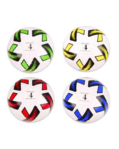Мяч футбол E31276 №4,TPE, 300 грамм, 4 цвета