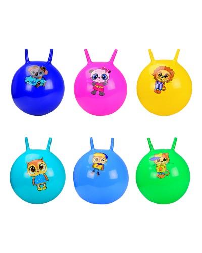 Мяч для фитнеса CB5501 рожки 55 см 400 грамм, 6 цветов