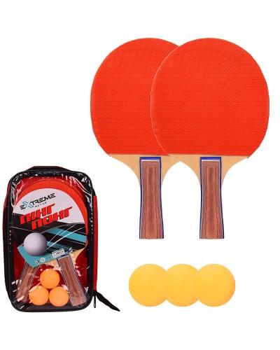 Теннис настольный TT2117 2 ракетки, 3 мячика в чехле(толщина 7 мм) чехол – 17*3.5*28 см